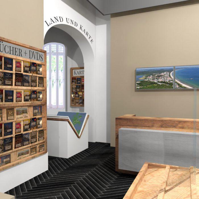 Interior Design und 3D-Visualisierung /Touristeninformation Binz