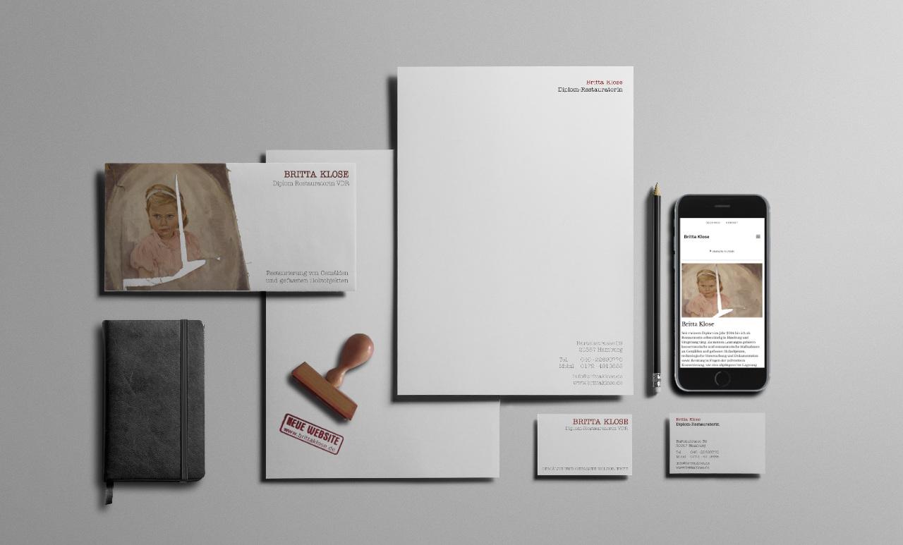 Geschäftsausstattung Visitenkarten und Flyer
