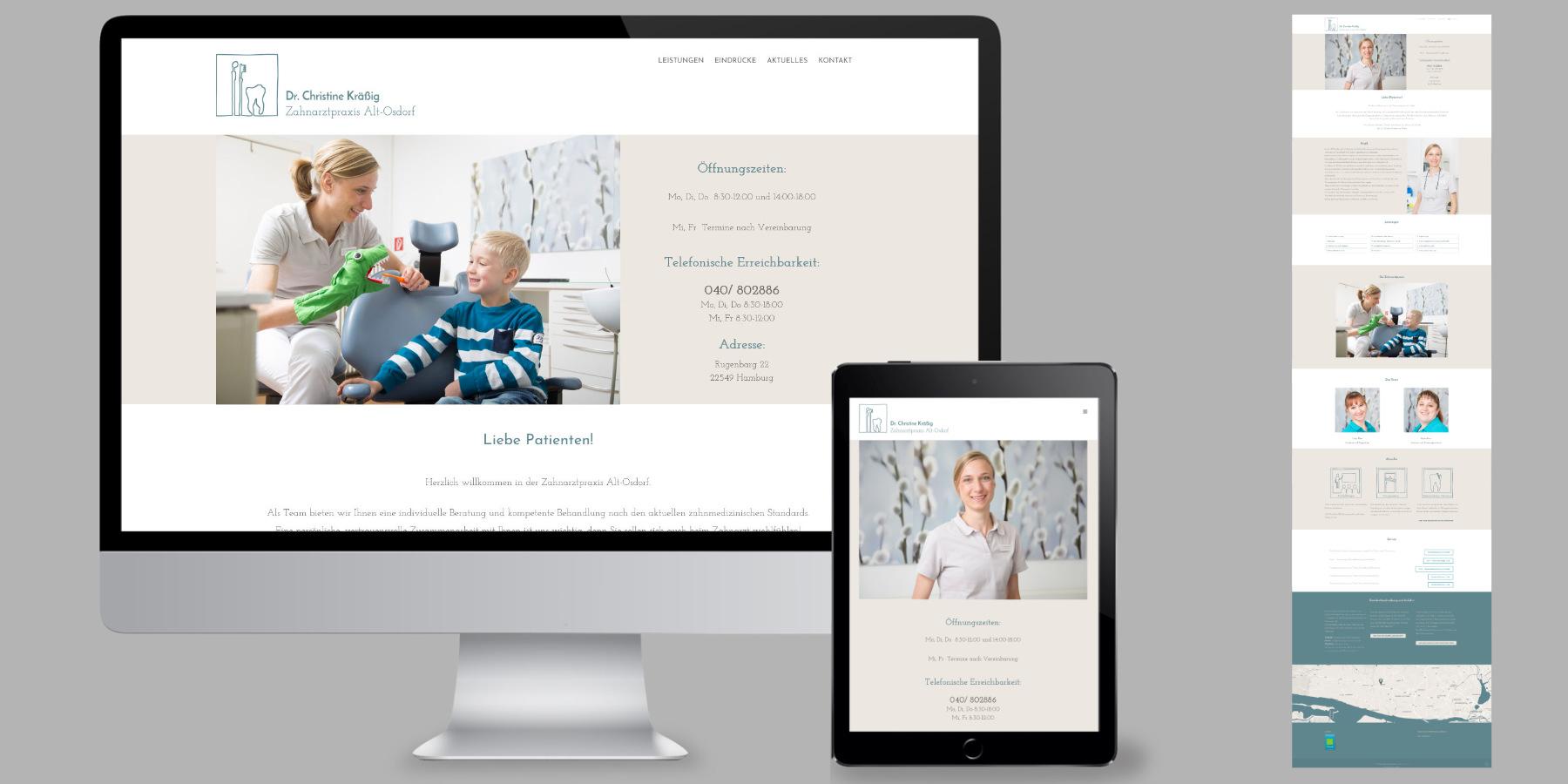 Websitedesign für eine Zahnarztpraxis