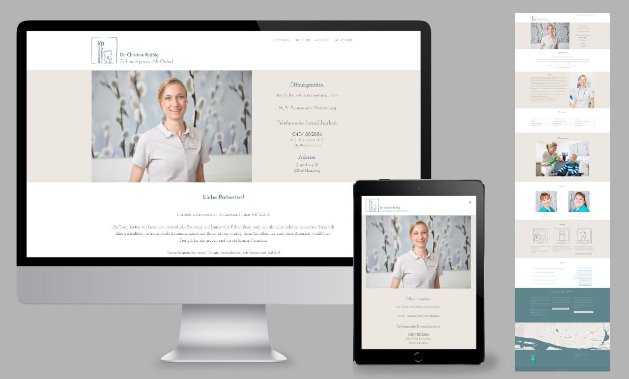 Internetseite für eine Praxis in Hamburg