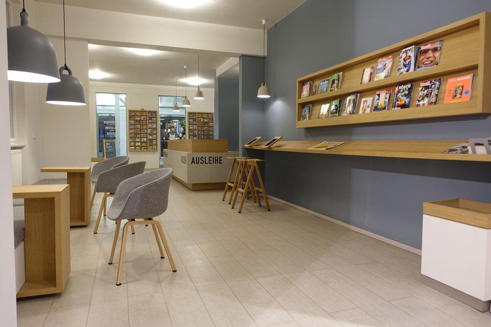 Interieurdesign der Bibliothek in Binz