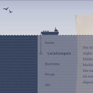 Homepage für das Texter-Startup-Unternehmen Elbsatz