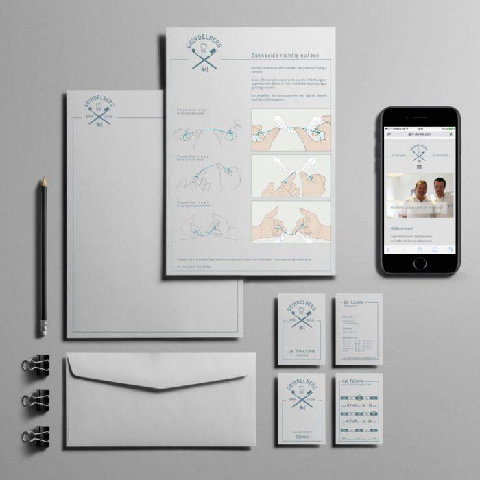 Geschäftsausstattung und Corporate Identity /Zahnarzt Grindelberg