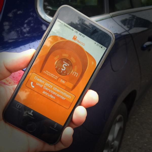 App UI Design der Smartphone-App Pakoo