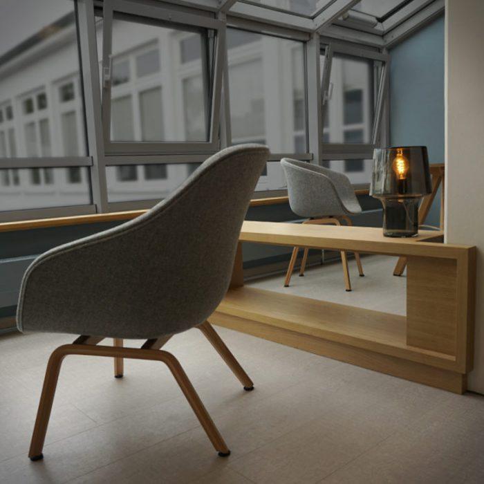 Interiordesign von Foyer und Lounge /Haus des Gastes, Binz