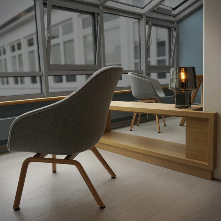 Interior Design Foyer und Lounge im Haus des Gastes in Binz