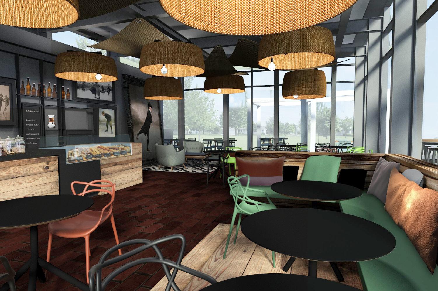 Entwurf Gastronomie Eisbahn Hamburg Juni Studio
