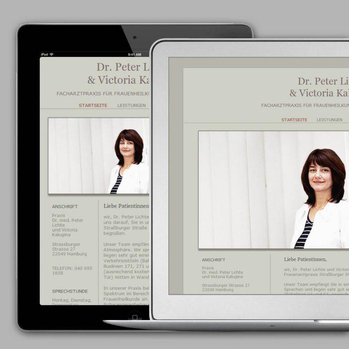 Praxis Website in WordPress für Gynäkologische Praxis