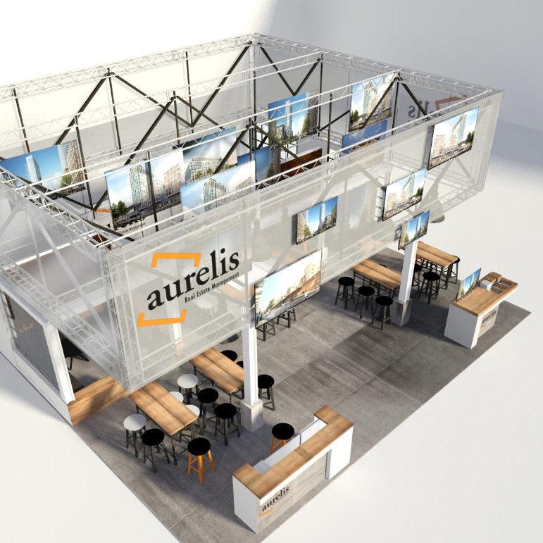 Messestand Gestaltung für Aurelis zur Expo Real