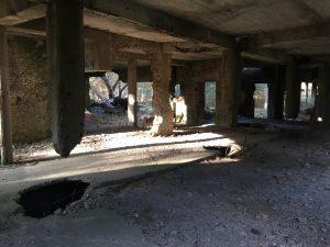 Spuren der Sprengung in Prora