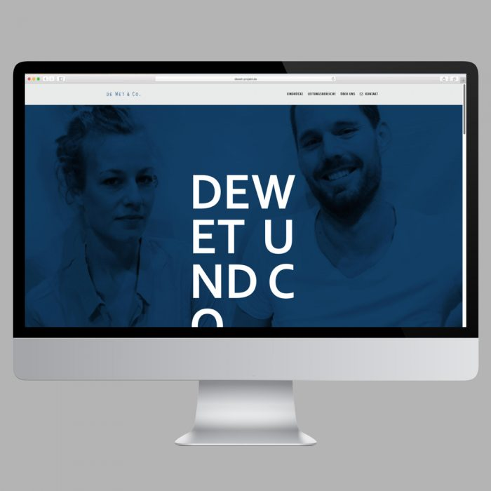 Website Onepager – De Wet & Co Website