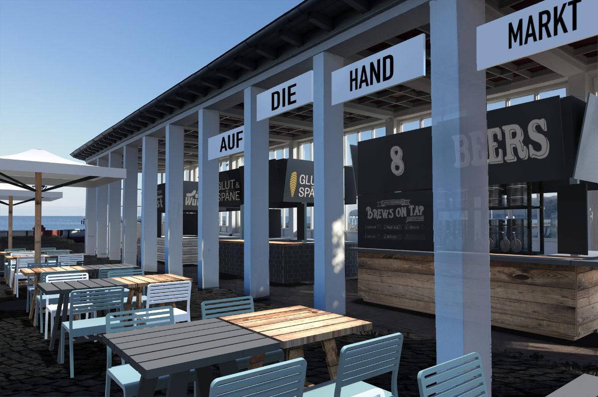 Konzept für mobile Gastronomie auf dem Kurplatz in Binz