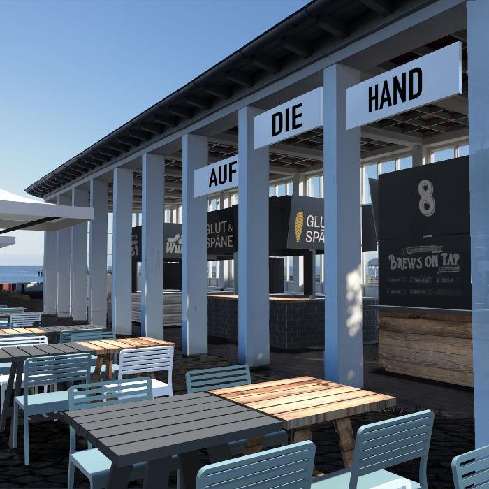 Design und Gastrokonzept für den Kurplatz in Binz