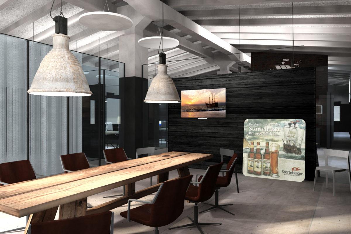 Interior Design von Empfang und Konferenzräumen