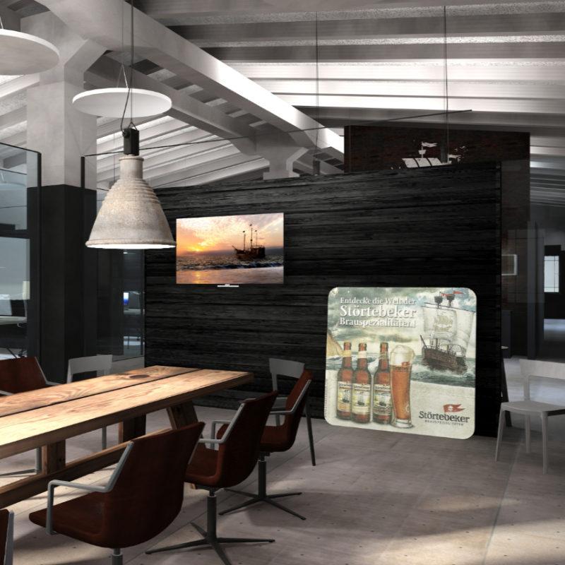 Interior Design Büro der Störtebeker Braumanufaktur