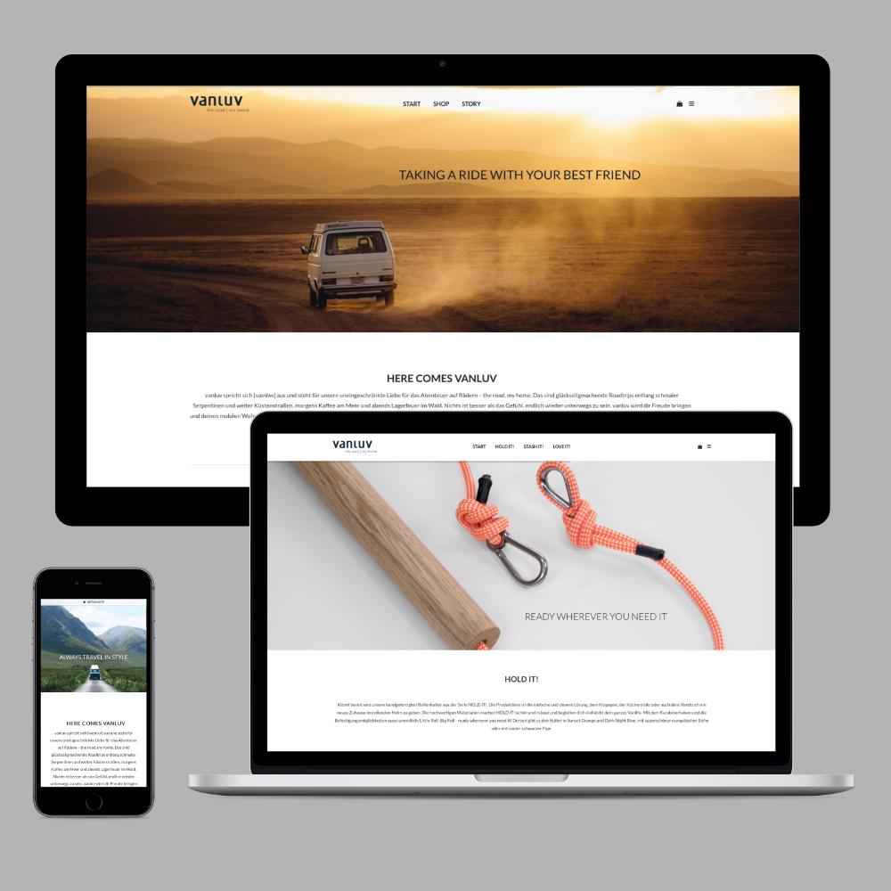 Wordpress - Internetseite für Vanluv