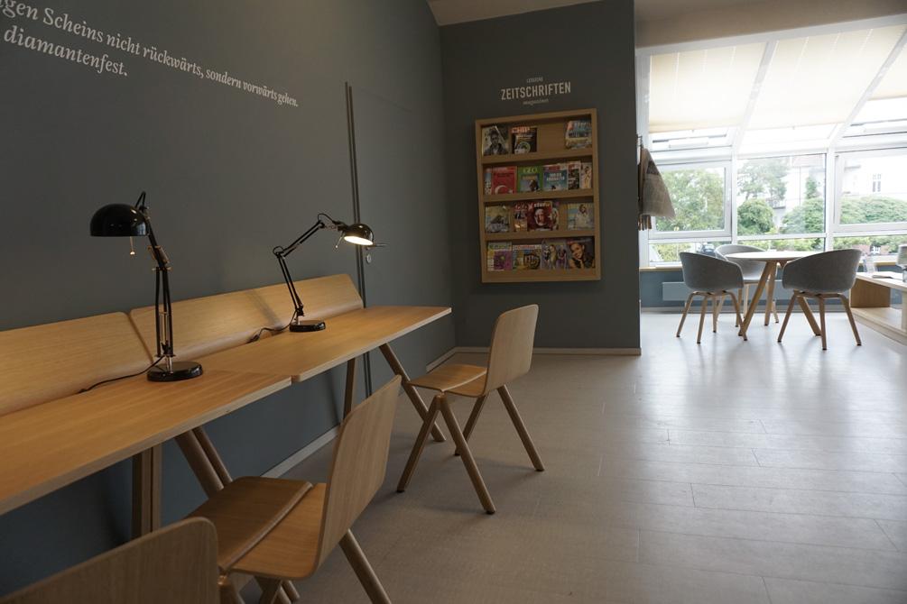 Möbeldesign für das Interieur einer Lounge im Ostseebad Binz