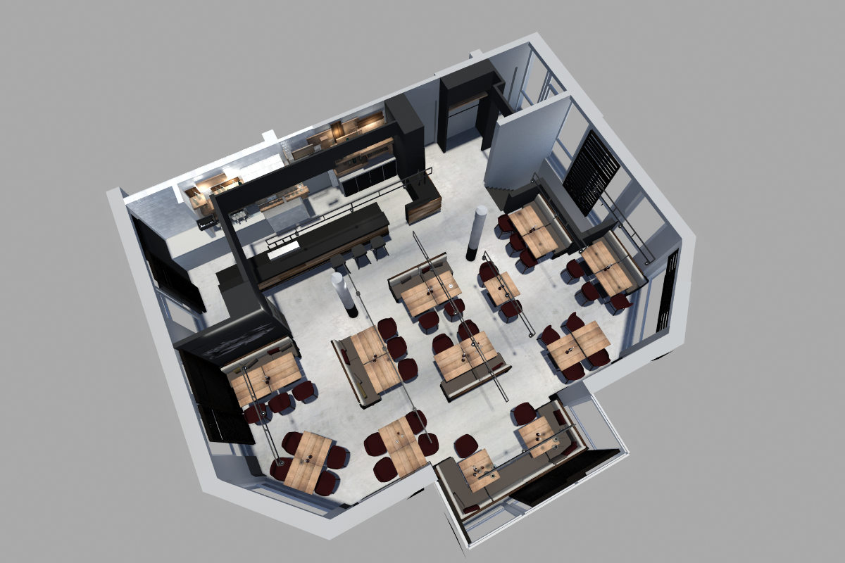 Restaurant interior design für ein Fischrestaurant in Berlin