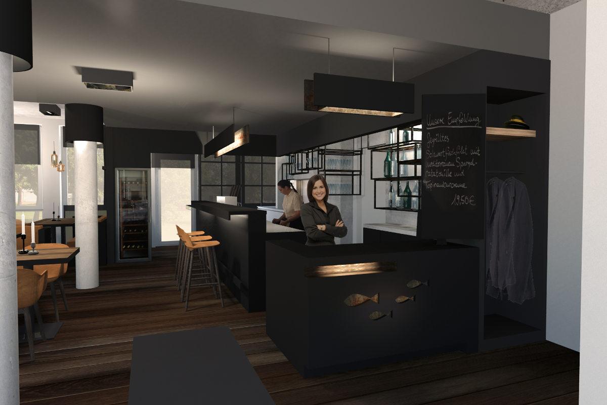 Bar design und Restaurant interior für ein Fischrestaurant in Berlin