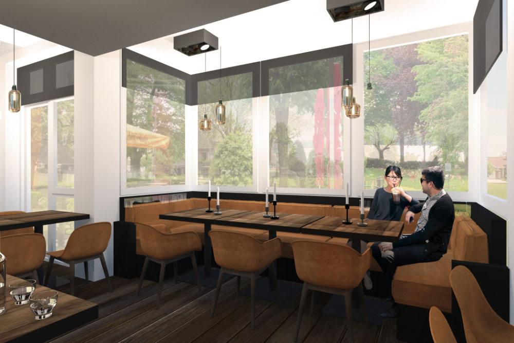 Lounge design und Restaurant interior für ein Fischrestaurant in Berlin