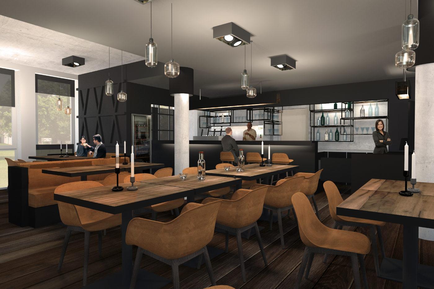 Restaurant design und interieur für ein Fischrestaurant in Berlin