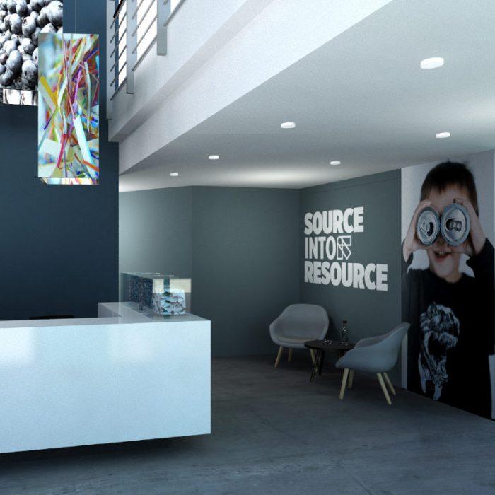 Design der Unternehmensräume für Tomra Sorting Solutions