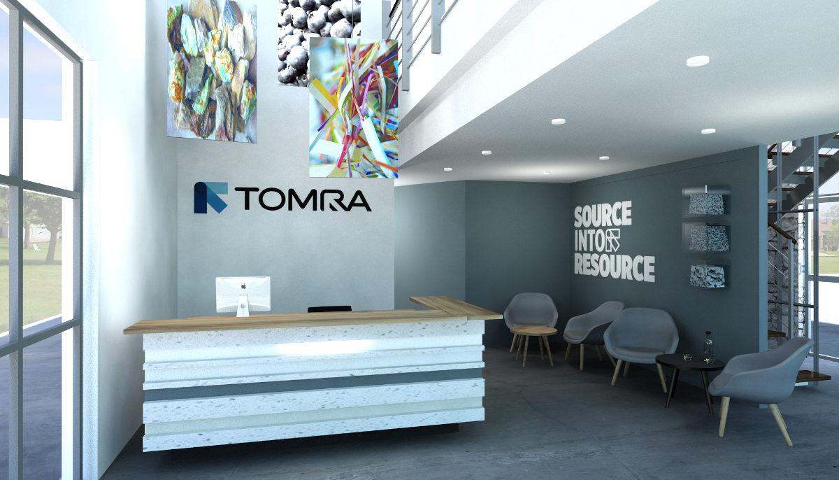 3D-Visualisierung Interiordesign Empfangsbereich mit Tresen