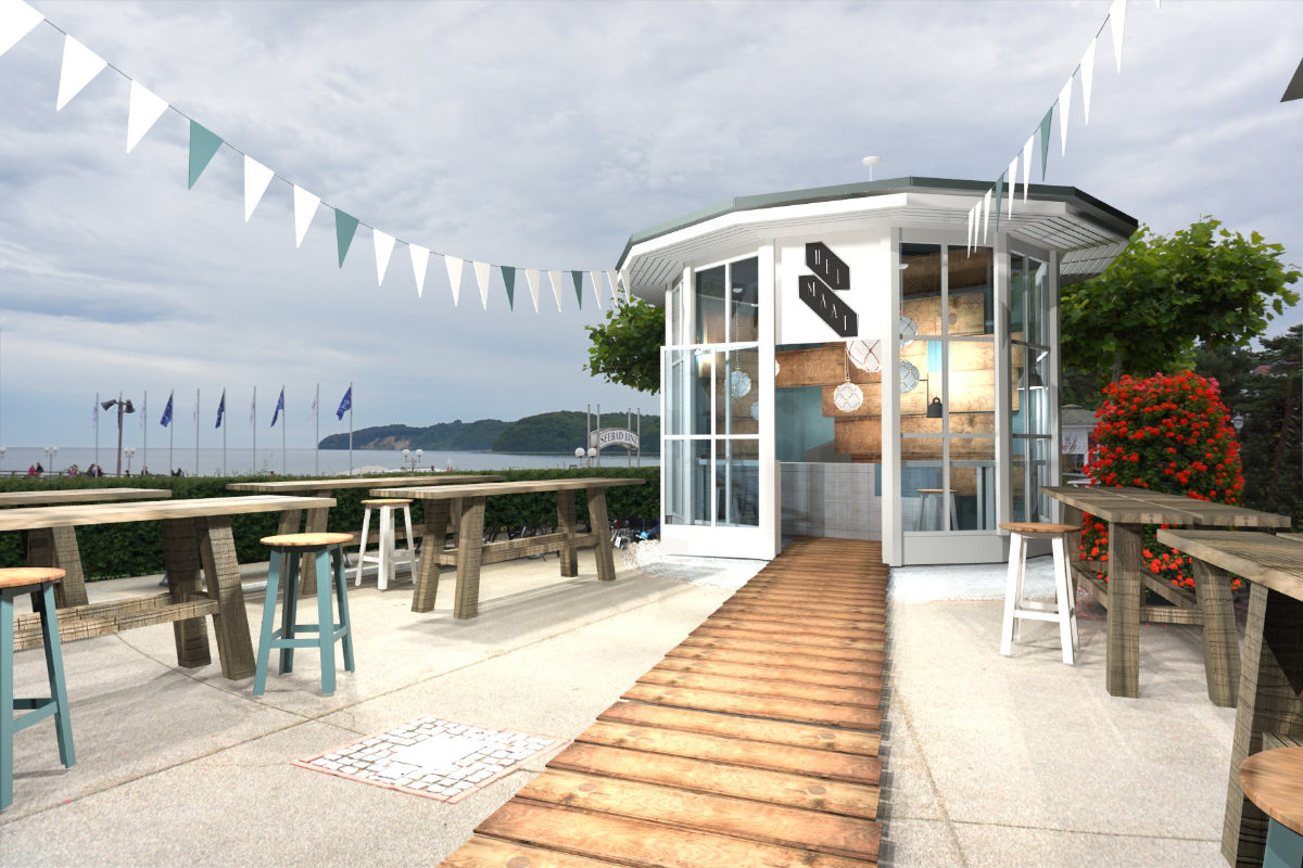 3D-Visualisierung Bar Design Strandbar