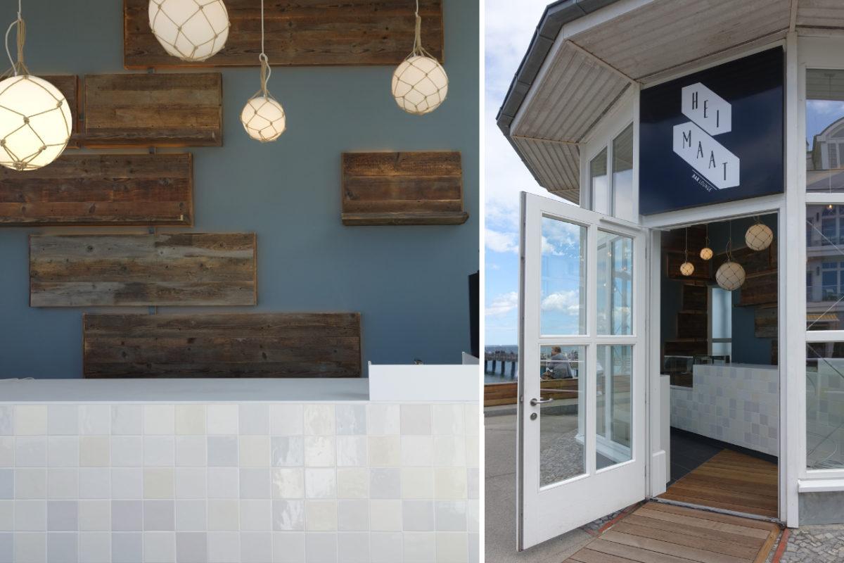 Maritimes Bar Design bauliche Umsetzung Interieur
