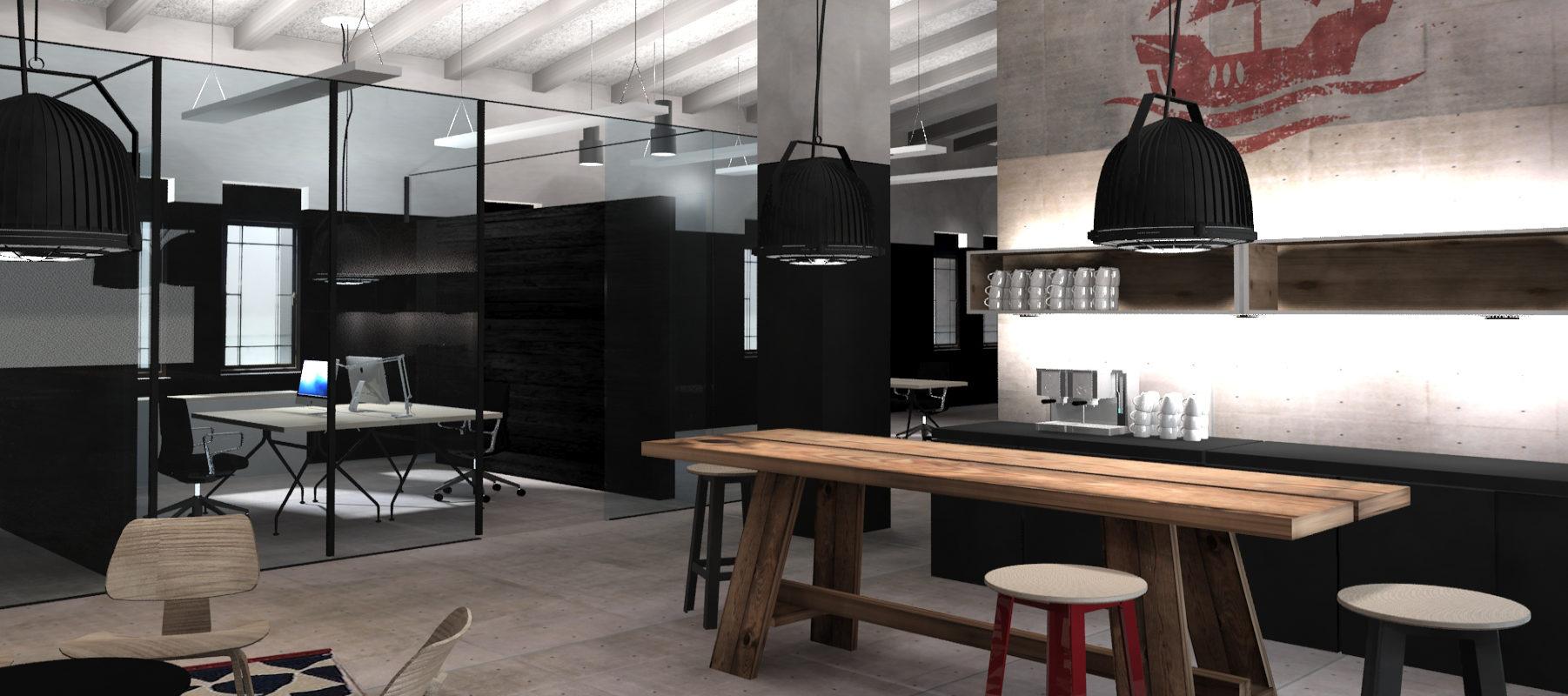 Interiordesign Office Mitarbeiterküche