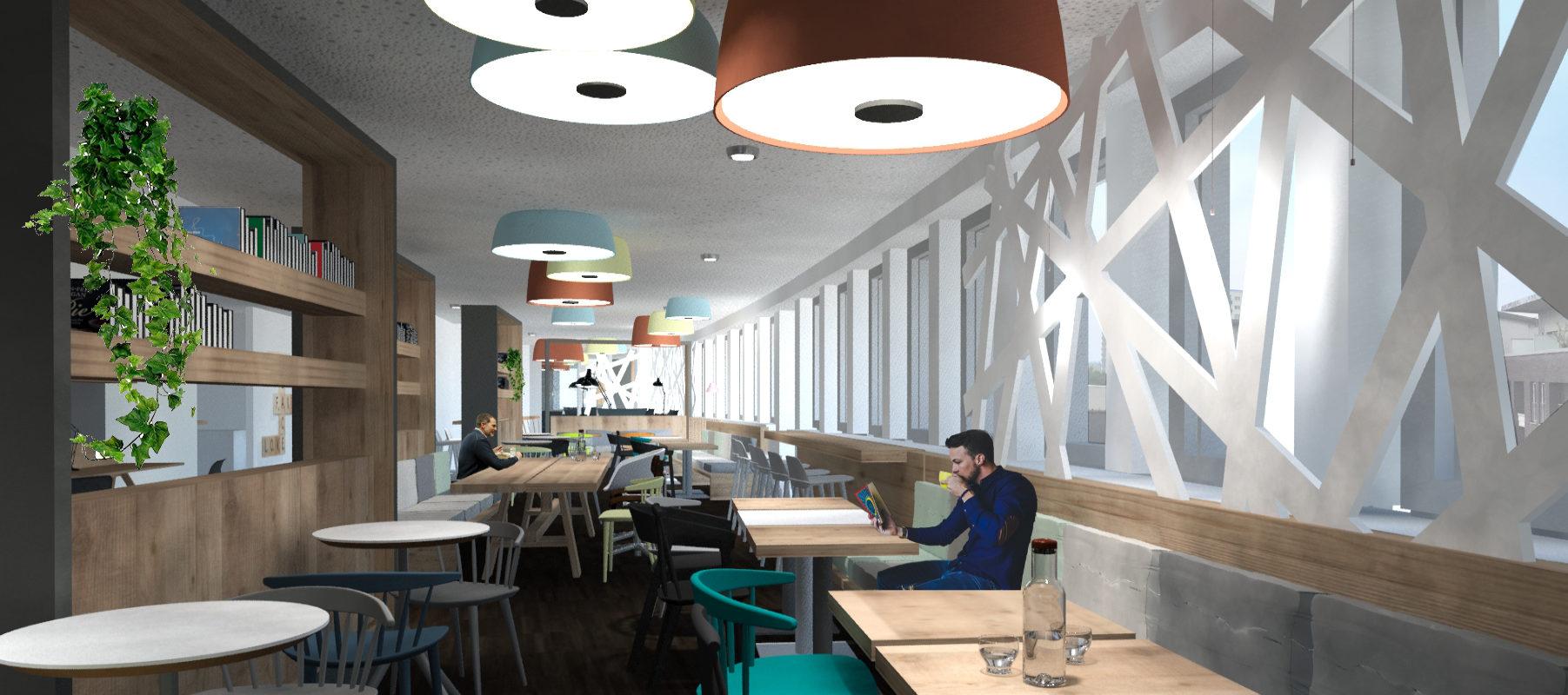 Interiordesign Mitarbeiterräume Kantine