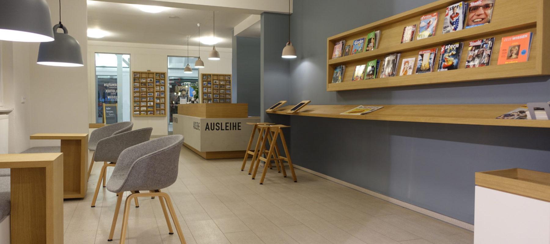 Interior-Design Bibliothek Leseecke