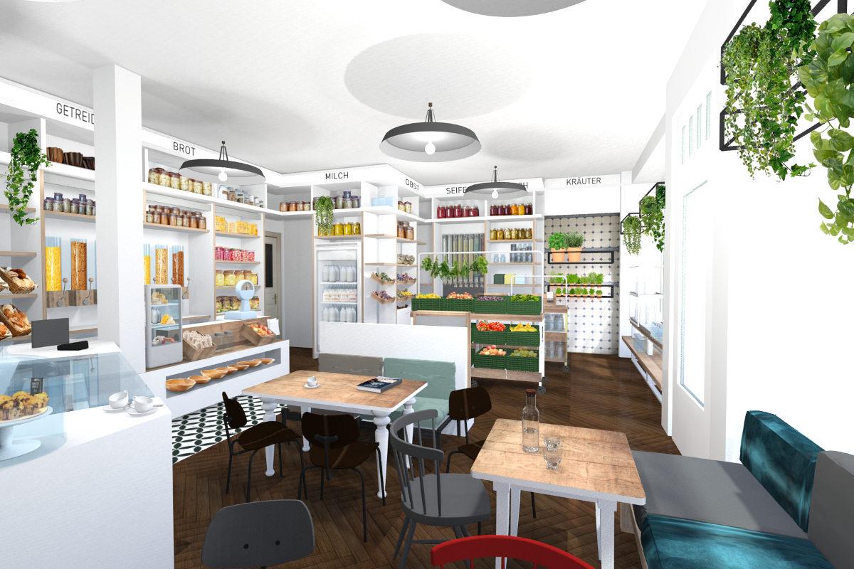 Beispiel Shopdesign und Planung für Ladenbau