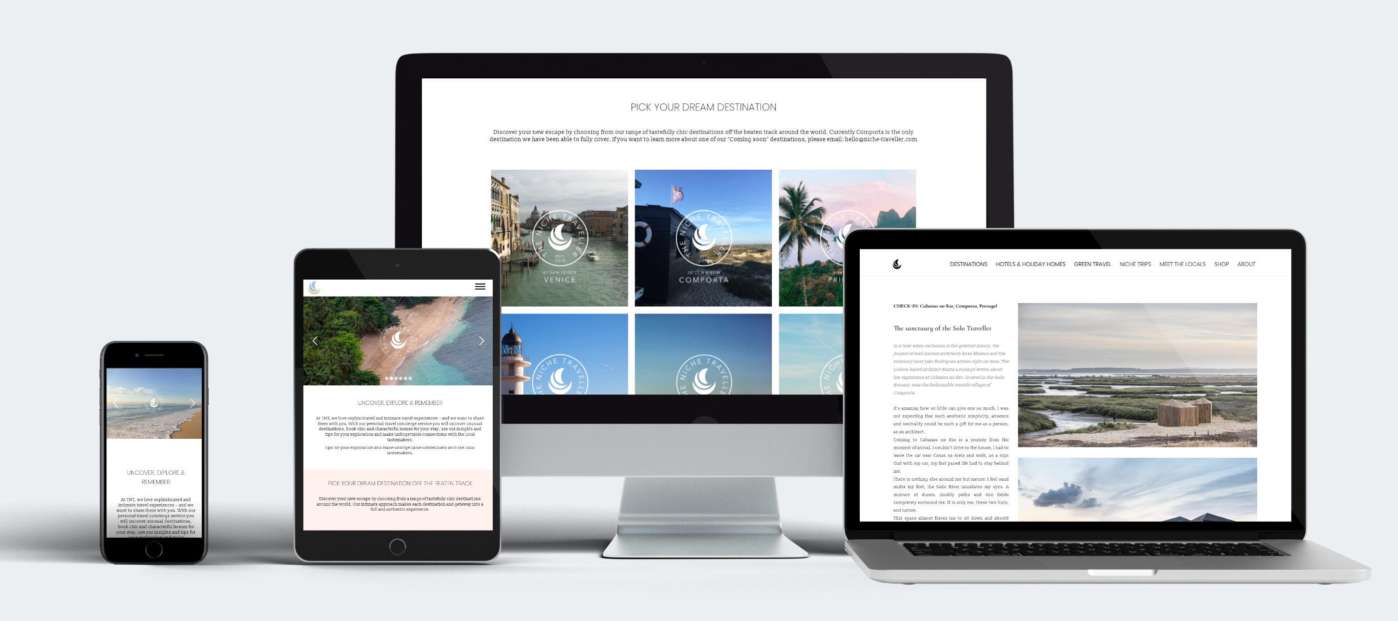 Webdesign Onlineportal Reise