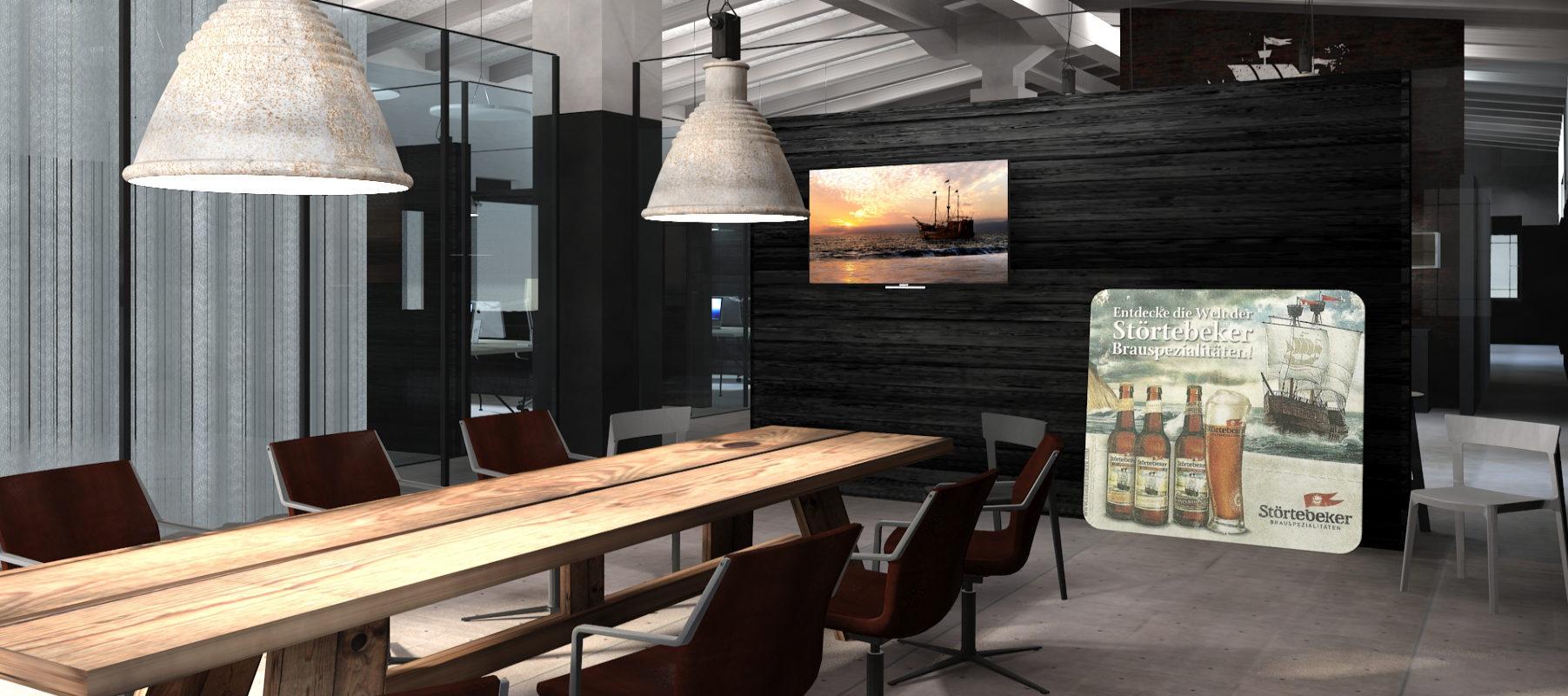 Büro-Design Konferenzraum Besprechungstisch