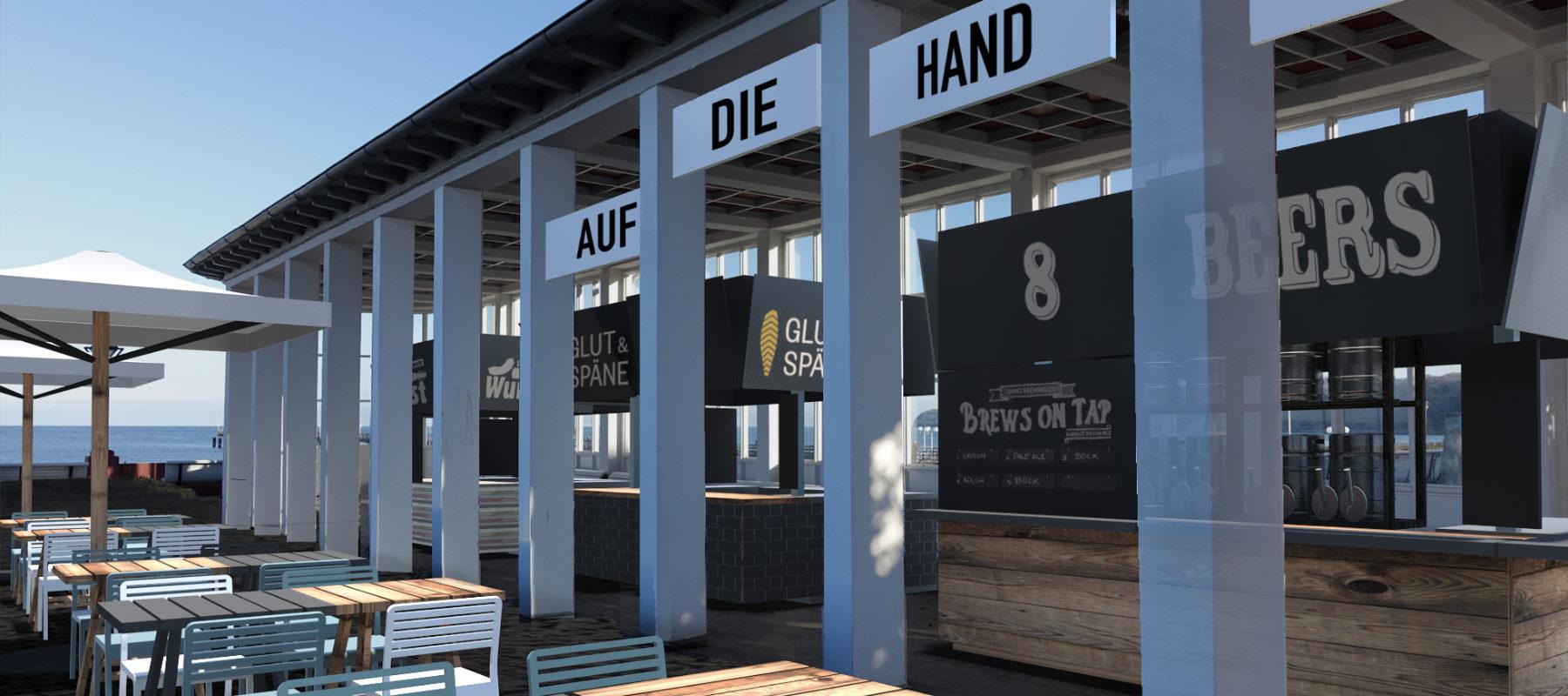Gastro-Design Entwurf Bar Foodmarket
