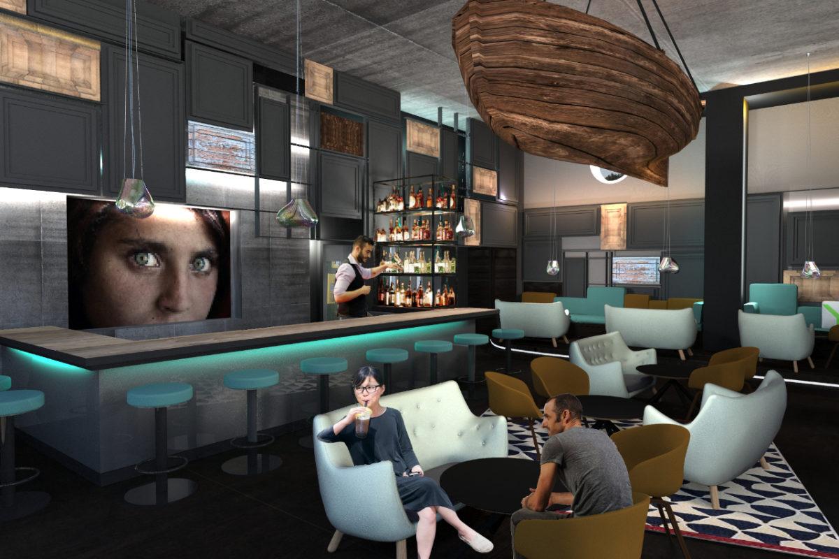maritimes Design für eine Bar auf Ruegen