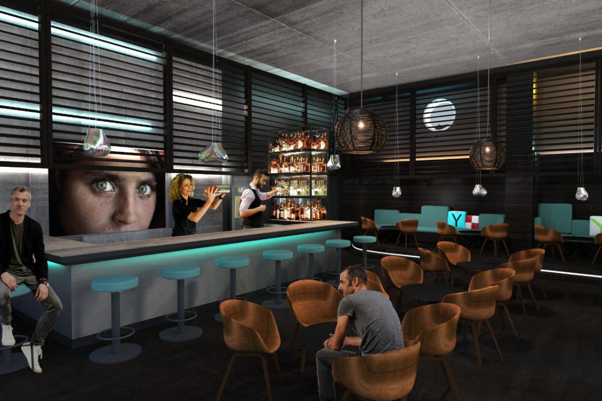 Interior-Design für eine Hotelbar auf Rügen