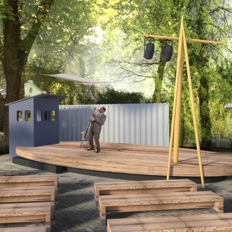 Outdoor Bühne – Event Design für Kulturveranstaltungen