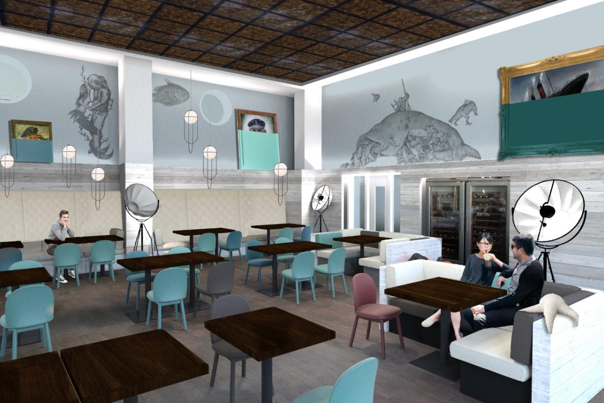 Inneneinrichtung und Interiordesign einer Bar auf Rügen