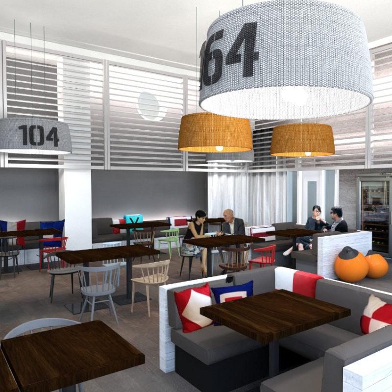 Interior Design Hotel-Bar und Restaurant