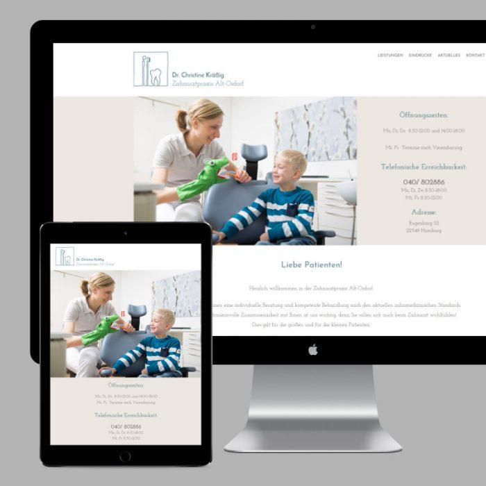 Webdesign für eine Zahnarztpraxis