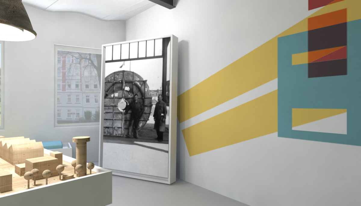 3D-Visualisierung Ausstellungsdesign Kolbenhöfe