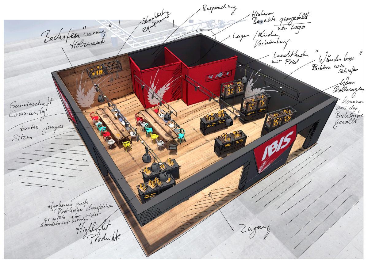 Messe-Design Entwurf für IBIS