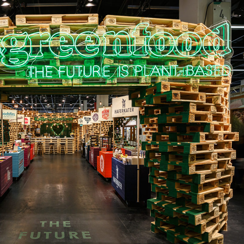 nachhaltiges Messestand Design für Lebensmittel