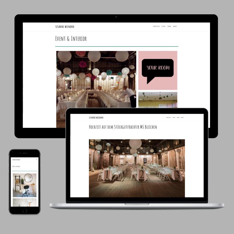 WordPress-Website für eine Eventstylistin