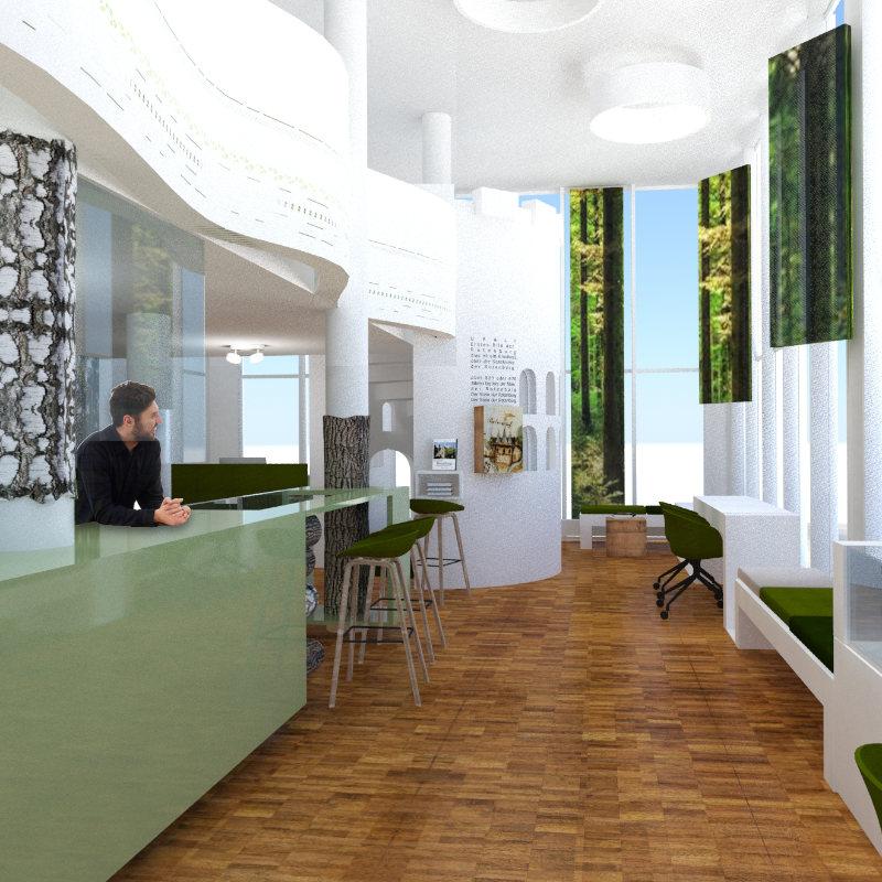 Interiordesign Touristeninformation Rotenburg/Wümme