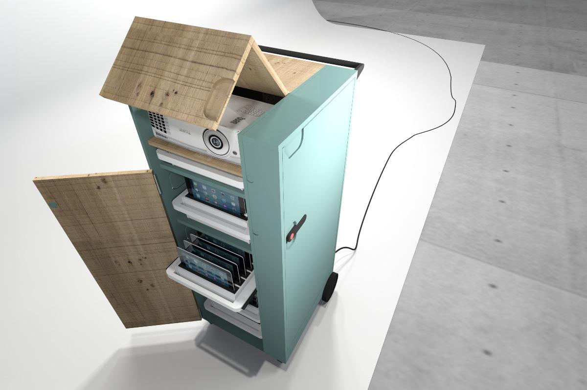 design-entwurf-Medientrolley