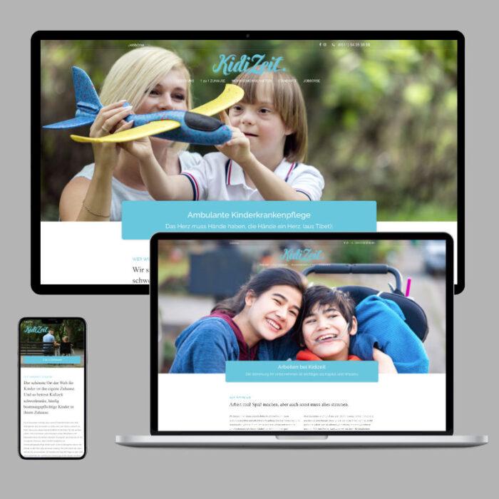 Internetauftritt für ambulante Kinder-Krankenpflege